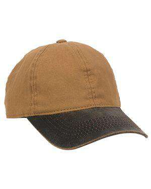 Brand: Outdoor Cap | Style: HPK100 | Product: Canvas Cap with Weathered Cotton Visor