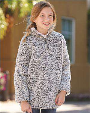 Brand: J. America | Style: 8462 | Product: Epic Sherpa Youth Quarter-Zip Pullover