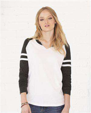Brand: LAT | Style: 3534 | Product: Women's Fine Jersey Mash Up Long Sleeve T-Shirt