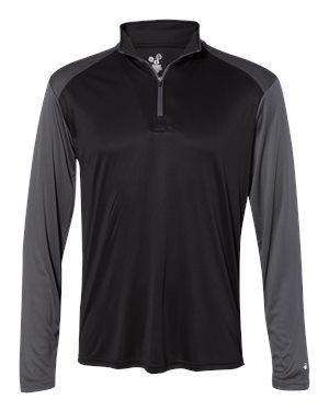 Badger Sport Men's Sunblock 1/4-Zip Pullover Jacket