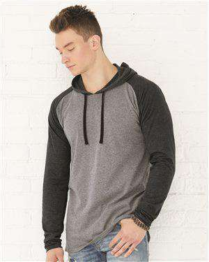 Brand: LAT | Style: 6917 | Product: Fine Jersey Long Sleeve Hooded Raglan T-Shirt