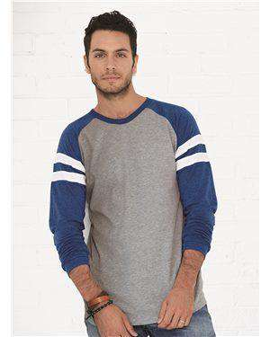 Brand: LAT | Style: 6934 | Product: Fine Jersey Mash Up Long Sleeve Tee