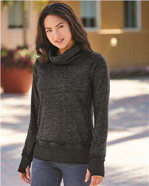 Brand: J. America | Style: 8930 | Product: Vintage Zen Fleece Women's Cowl Neck Sweatshirt