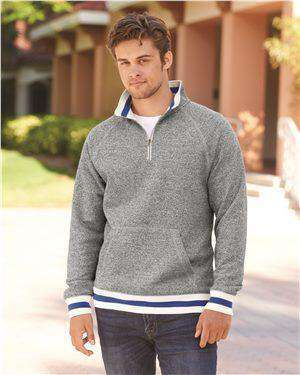 Brand: J. America | Style: 8703 | Product: Peppered Fleece 1/4 Zip Pullover