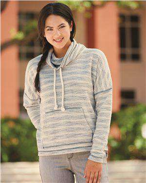 Brand: J. America | Style: 8693 | Product: Baja Women's French Terry Cowl Neck Pullover