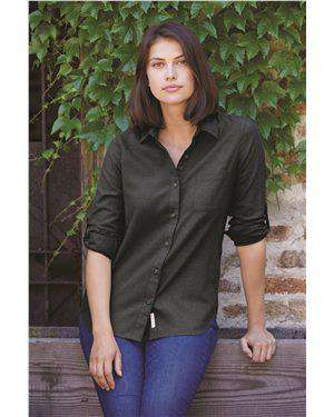 Brand: Weatherproof | Style: W198306 | Product: Vintage Brushed Flannel Solid Women's Shirt