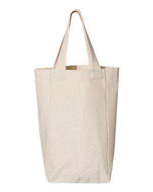 OAD Two-Bottle Wine Canvas Tote Bag