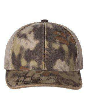 Outdoor Cap Weathered Trucker Camouflage Cap - CBW100M