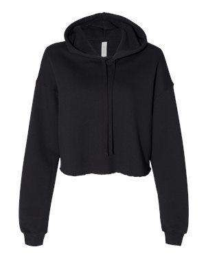Bella + Canvas Women's Crop Hoodie Sweatshirt