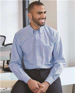 Brand: Van Heusen | Style: 13V0467 | Product: Blue Suitings Non-Iron Patterned Shirt