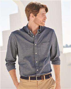 Brand: Tommy Hilfiger | Style: 13H1861 | Product: Capote End-on-End Chambray Shirt