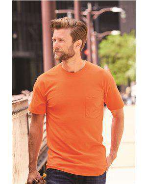 Brand: Hanes | Style: W110 | Product: Workwear Short Sleeve Pocket T-Shirt