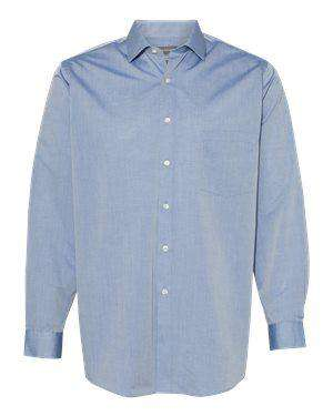 Van Heusen Men's No Pocket Chambray Dress Shirt