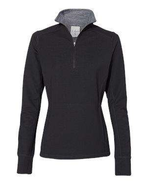 J America Women's Omega Stretch 1/4-Zip Sweatshirt - 8433