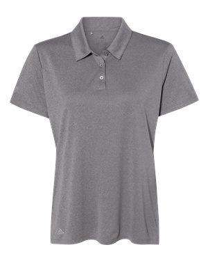 Adidas Women's Heathered Hydrophilic Polo Shirt