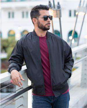 Brand: Independent Trading Co. | Style: EXP52BMR | Product: Lightweight Bomber Jacket