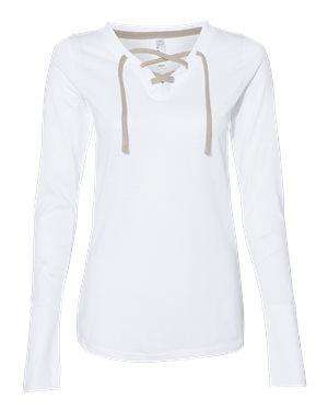 LAT Women's Jersey Lace-Up Long Sleeve T-Shirt