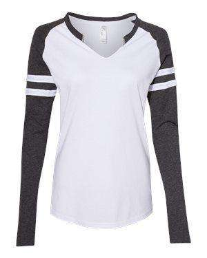 LAT Women's Jersey Mash-Up Long Sleeve T-Shirt
