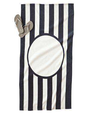 Brand: Carmel Towel Company | Style: C3060ST | Product: Carmel Towels Printer Friendly Striped Towel