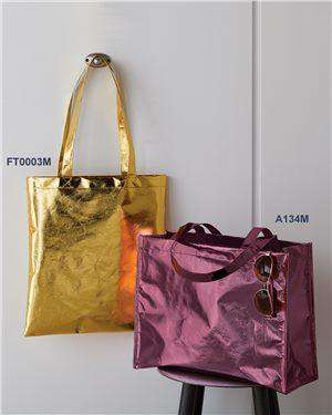 Brand: Liberty Bags | Style: FT003M | Product: Easy Print Metallic Tote Bag