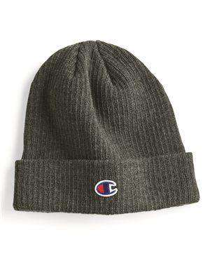 Brand: Champion | Style: CS4003 | Product: Cuffed Ribbed Knit Cap