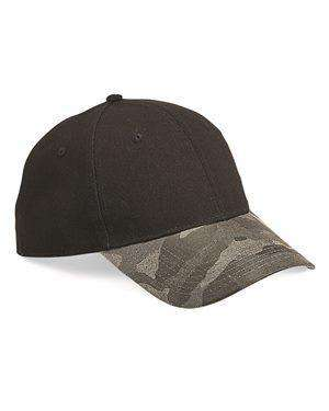 Brand: Outdoor Cap | Style: GHP100 | Product: Canvas Crown Weathered Camo Visor