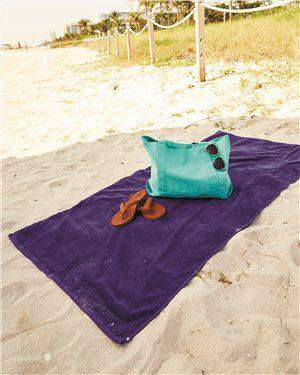 Brand: Q-Tees | Style: QV3060 | Product: Velour Beach Towel