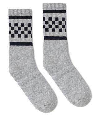 Brand: SOCCO | Style: SC300 | Product: Checker Crew Sock