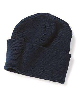 "Brand: Bayside | Style: 3895 | Product: Union Made 12"" Knit Beanie"