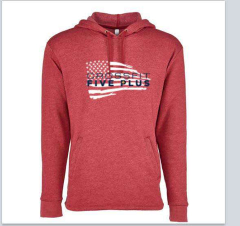 CrossFit Five Plus Flag Hoodie