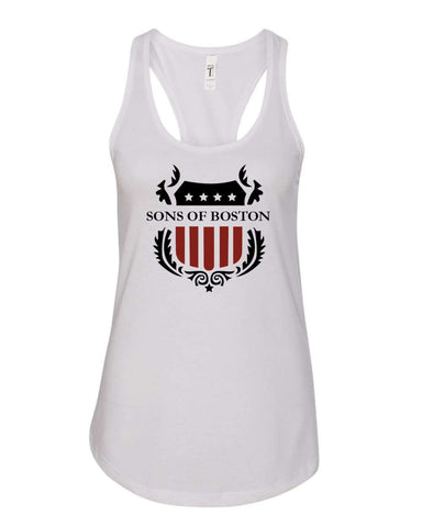 Sons of Boston Ladies Stars and Stripes Racer Tank