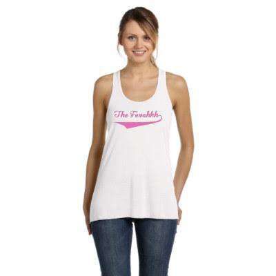 Ladies The Fevahhh Quarantine Bar Flowy Racerback Tank