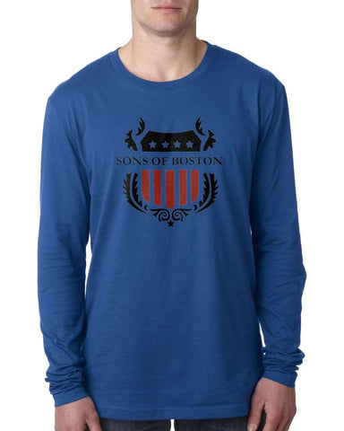 Sons of Boston Mens Long Sleeve Shield T-Shirts