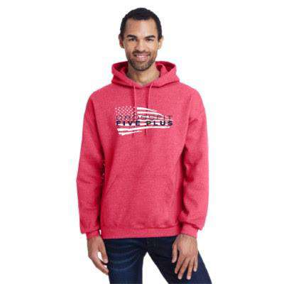 Unisex CrossFit Five Plus American Flag Hoodie