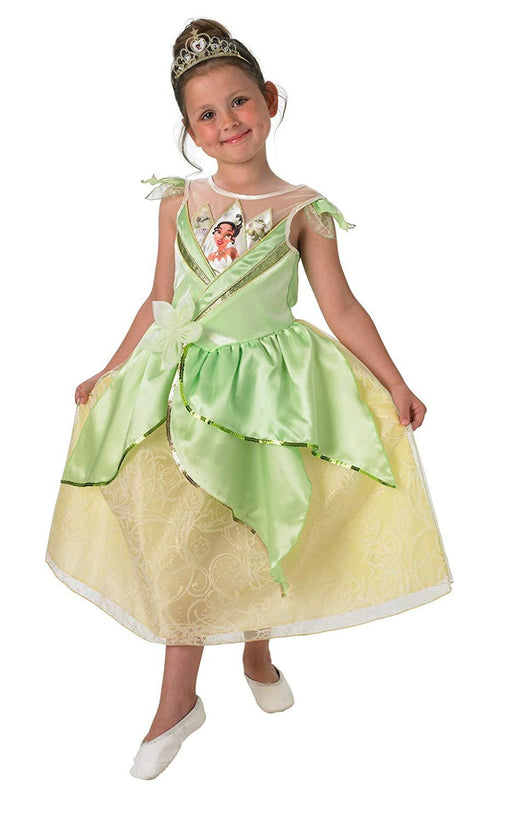 Tiana - Shimmer Dress - Disney Princess - Childrens Fancy Dress Costume
