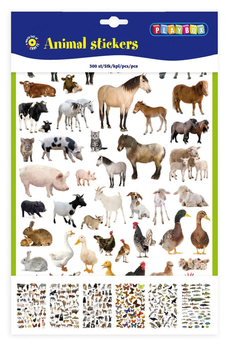 Playbox Animal Stickers (300 Pieces)