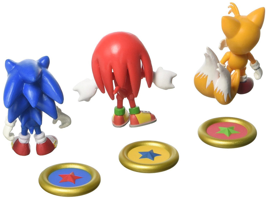 Sonic The Hedgehog T22050A1 3-Inch 25th Anniversary Action Figure with Collectable Coins/Sonic/Knuckles and Tails