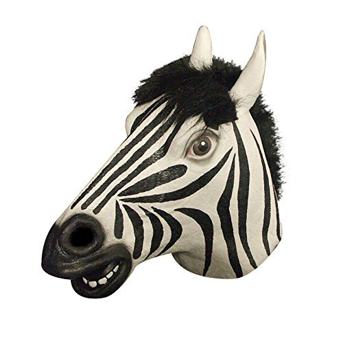 Générique FAC – MA1029 Full Zebra Adult Latex Mask