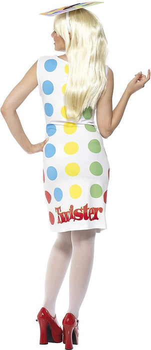 LICNSD TWISTER BOARD GAME FANCY DRESS COSTUME LADY -MEDIUM(Fits UK Dress Sizes 12 / 14)