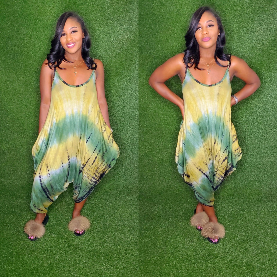 The Olive Tye dye romper