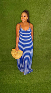 Quarantine & Stripes dress (Navy)