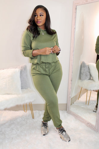 Chill Girl Set (Olive)
