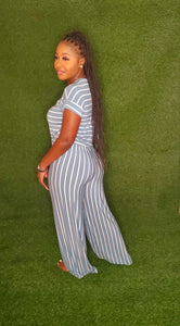 Cassie jumpsuit (Blue Grey/Ivory)
