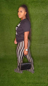 Stacey pants (white & black stripes)