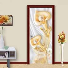 Load image into Gallery viewer, Creative DIY 3D Jewelry Flower Wall Painting Living Room Bedroom Door Decoration Sticker Mural Waterproof Wall Decals Wallpaper - vouswall.com