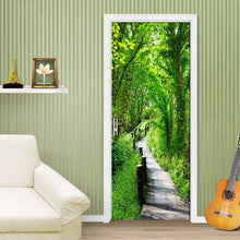 Load image into Gallery viewer, Forest Trail Nature Landscape Modern 3D Wall Covering Living Room Bedroom Door Mural Sticker PVC Waterproof 3D Wallpaper Mural - WallpaperUniversity