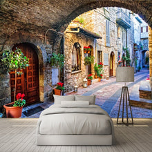 Load image into Gallery viewer, ITALIAN STREET VIEW Wall Mural - WallpaperUniversity
