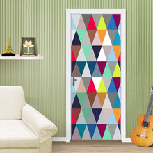 Load image into Gallery viewer, Modern Abstract Art Geometric Pattern 3D Living Room Study Bedroom Door Creative DIY Mural Sticker Vinyl Wallpaper Home Decor - WallpaperUniversity