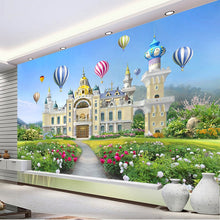Load image into Gallery viewer, Customize Any Size Photo Beautiful Girl Little Princess Fantasy Castle Waterproof Mural Decoration Children Room Mural Wallpaper - WallpaperUniversity