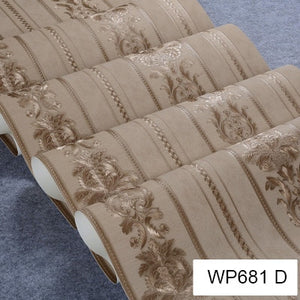 EXQUISITE GOLD EMBOSSED DAMASK Wallpaper Wall Covering - WallpaperUniversity